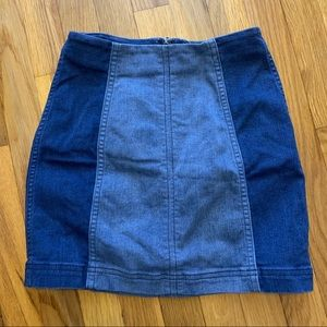Free People Modern Femme Mini Denim Skirt Size 0